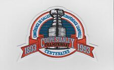 1993 NHL STANLEY CUP FINAL PATCH MONTREAL CANADIENS FRENCH VERSION
