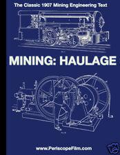 VINTAGE 1907 MINE ENGINEERING Mining: Haulage LOCOMOTIVE BOOK Mining Railroads