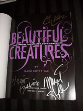 Kami Garcia Margaret Stohl Cotta Vaz signed Beautiful Creatures Movie Companion