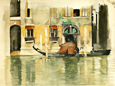 Gondola for a Venetian House by Willem Witsen A2+ High Quality Canvas Print