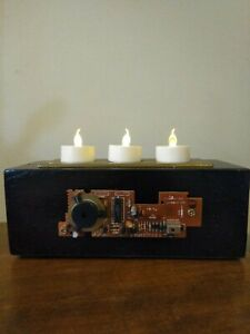 Industrial Circuit Board Rustic Battery Tea light Candle Holder