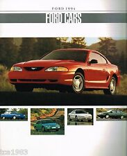 1994 FORD Brochure : ASPIRE,MUSTANG,TAURUS,T-Bird,TEMPO,PROBE,ESCORT,CROWN VIC