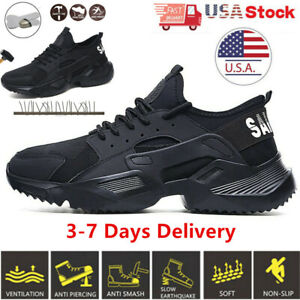 Womens Work Safety Shoes Steel Toe Cap Bulletproof Boots Indestructible Sneaker