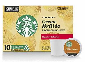 Starbucks Creme Brulee Coffee K Cup Pod Keurig 10ct NEW Free Ship. FRESH
