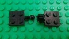 Lego Black Flat 2x2 Ball & Connector Plates Space Cars Trucks Trailer Buggy x 1