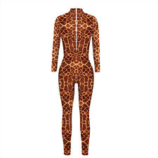 Womens Jumpsuit Bodysuit Bodycon Fancy Dress Halloween Cosplay Costume Catsuit