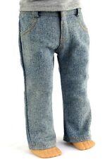 "FITS 18"" AMERICAN GIRL BOY DOLL CLOTHES Lt BLUE DENIM Pants JEANS"