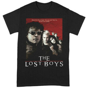 The Lost Boys 'Distressed Poster' Black T-Shirt - NEW & OFFICIAL!