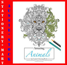 A4 Adult Colouring Book◉BUY ONE GET ONE FREE◉AMAZING ANIMALS◉200GSM◉ACID FREE◉Oz