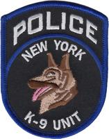 NEW YORK CITY POLICE DEPARTMENT SHOULDER PATCH: K-9 Unit
