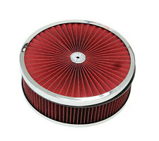 "14""x 4'' Chrome Breather Washable Air Filter Cleaner Reusable Oiled Ford Chevy"