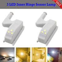 DC 12V 0.3W 3 LED Inner Hinge Sensor Lamp Under Cabinet  Cupboard Wardrobe Light