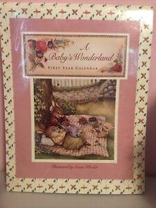 "NEW Baby's First Year Keepsake Calendar W/ Stickers  @ 8.5"" X 11"" Susan Wheeler"