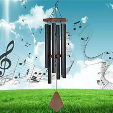 New listing Memorial Wind Chime Outdoor Large Deep Tone Wind-Chime with 6 40'' Black