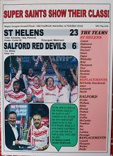 St Helens 23 Salford Red Devils 6 - 2019 Grand Final - souvenir print