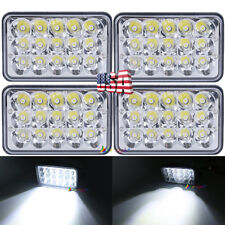 "4pcs DOT Approved 4x6"" LED Headlights Bulb for Peterbilt Kenworth Freightliner"