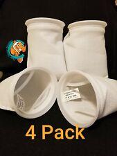 "Four (4) Filter Socks 7"" x 12"" Felt 200 Micron sock Aquarium Reef Wet Dry Sump"