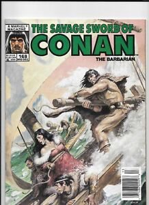 SAVAGE SWORD OF CONAN #168 VERY FINE TO NEAR MINT  NOREM COVER ART!!