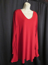 Pure Jill Knit Tunic Top Red Pima Cotton Modal Asymmetrical Size XL