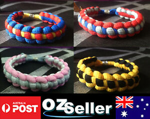 Hand Made Braided Shoelace Bracelet Wristbands in comic action figure style