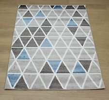 Portland, Delta, Taupe/Blue, Rug, 160cm x 230cm, Large, Modern, Bold, Zig Zag