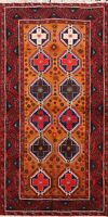 Tribal Balouch Hand-knotted Area Rug Geometric Oriental Home Decor 3'x6' Carpet