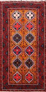 Tribal Balouch Hand-knotted Area Rug Geometric Oriental Home Decor 3'x6' Carpet