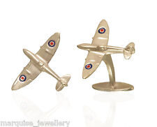925 Argento Sterling Spitfire Gemelli. SMALTO RAF Bersaglio.