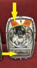 Mercedes W114 W115 Headlight Signal Lenses Pair NEW 1968-1976 EURO TYPE