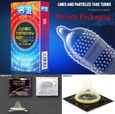 Lots 10Pcs Men Latex Condoms Sensitive Large Ribbed Dotted Ultra Condoms Delay