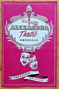 The Tender Trap programme Birmingham Alexandra Theatre 1957 Rex Garner