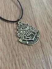 Harry Potter Hogwarts Crest Necklace Gryffindor Ravenclaw Slytherin Hufflepuff
