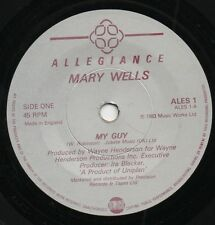 MARY Wells my guy*my guy (instrumental) 1983 UK ALLEGIANCE 45