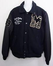 Scotch & Soda Black Varsity Jacket XXL Wool Blend Letterman Coat New York