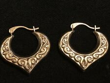 Vintage 9ct Gold Creole Earrings Pre Owned Hallmarked