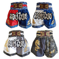 Boxing Shorts Muay Thai Mma Kick Fight Grappling Cage Mens Trunks Men dragon M L