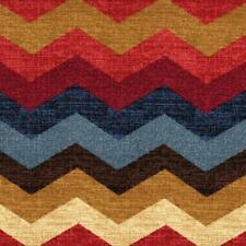 "3 1/4 yd x 54"" Waverly Panama Wave Gem Chevron Cotton Duck Fabric"