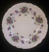 "Royal Jackson WOODLAND VIOLETS Fine China Salad Plate 8 1/8"""