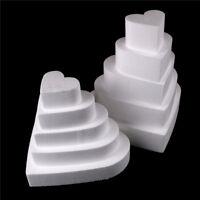 Herz Styropor Schaum Kuchen Dummy Modellierung Zucker Handwerk Blume DekorierXUI