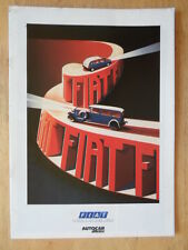 FIAT supplemento 1988 ORIG UK inchiostri BROCHURE-PANDA CROMA REGATA TIPO 500 TOPOLINO