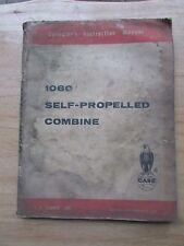 Case Model 1060 Combine Operators Setup Repair Manual