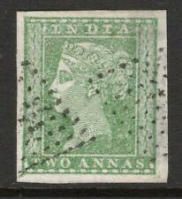 INDIA 1854  2 annas  Excellent Looking 4 Margins V. Fine Used see description