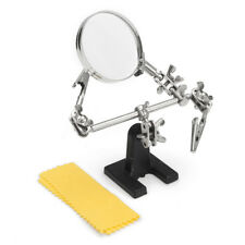 Solder 3rd Hand Soldering Iron Stand Holder Station Clip Magnifier Helping Tool