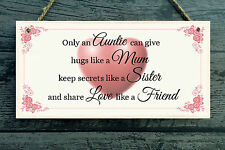 Auntie Mum Sister Love Personalised Plaque - gift home vintage style Shabby Chic