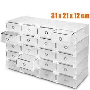 20Pz Scatole per Scarpe Impilabile Scatola Immagazzinaggio Di Scarpe in Plastica