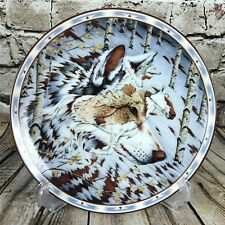 The Bradford Exchange Spirit Of The Wolf Kindred Spirits Porcelain Plate