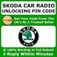 SKODA RADIO CODE UNLOCK CODE BOLERO FABIA SWING SYMPHONY OCTAVIA SUPERB & OTHER