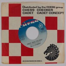 """BILLY STEWART: Crazy Bout You baby US Checker Soul Stock 7"""" 45 NM"""