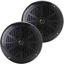 "Pyle PLMR61B 6.5"" Waterproof Marine Speaker Pair Black"