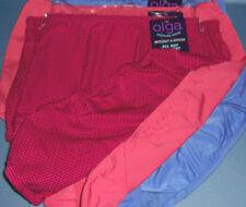 3 Olga Brief Panty Set Without A Stitch Nylon Microfiber Pink Blue Dots 8 XL NWT